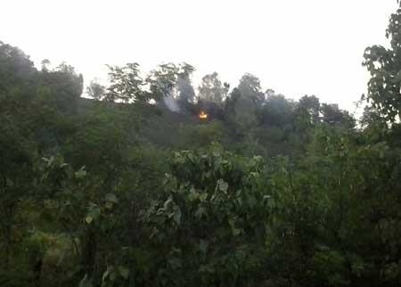 جنگل شالمای شفت آتش گرفت+تصاویر
