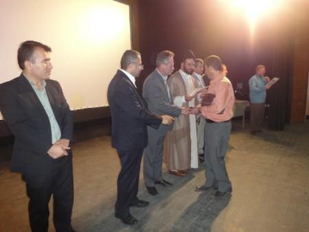 مراسم تجلیل ازدانش آموزان نخبه علمی وپرورشی درشهرستان شفت