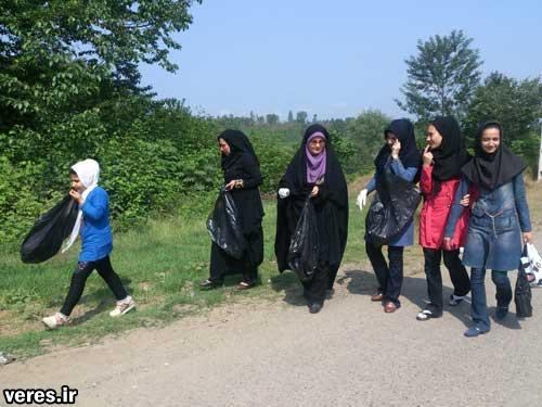 همایش جمع آوری زباله در جیرده شفت برگزار شد + تصاویر