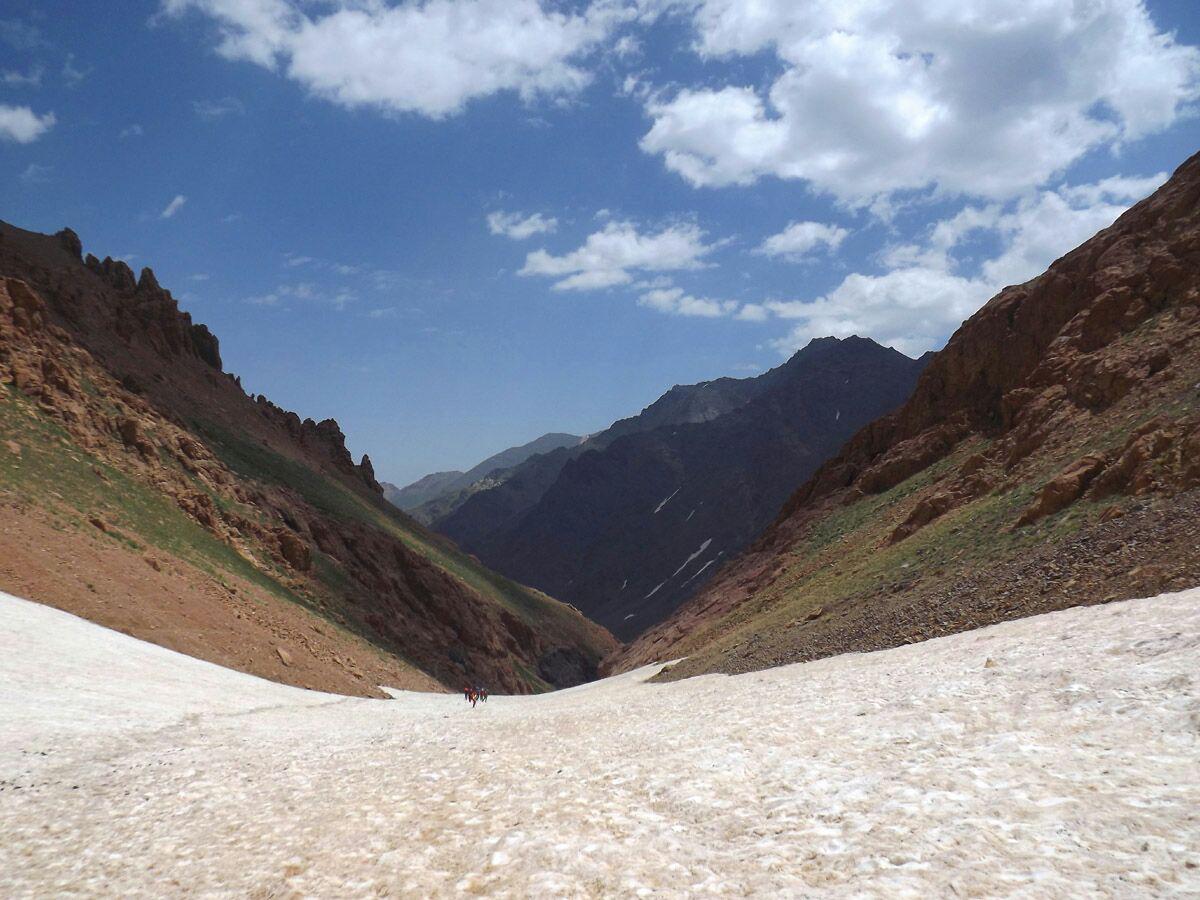 صعود کوهنورد شفتی به قله علم کوه
