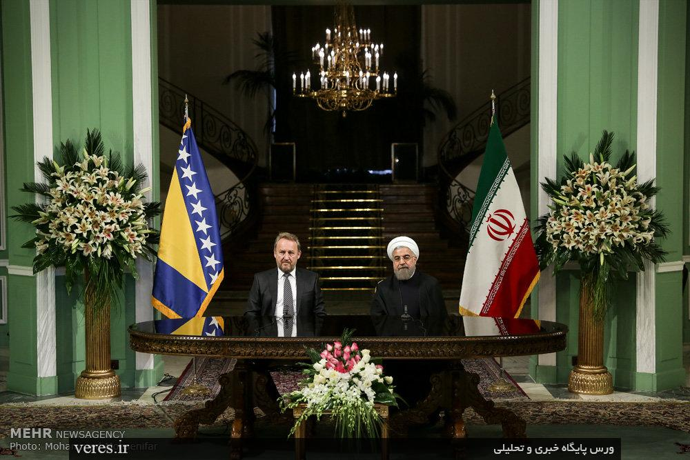 استقبال رئیس جمهور از رییس شورای ریاست جمهوری بوسنی و هرزگوین