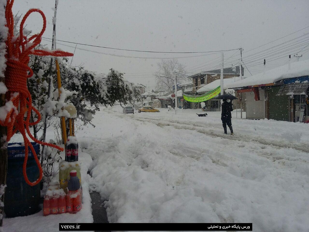 جیرده در یک روز برفی