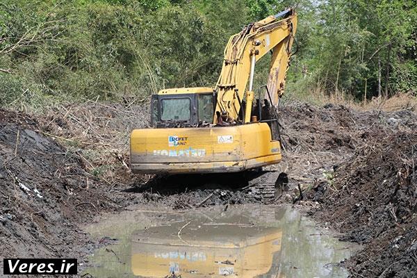لایروبی نهر سُنگ احمدسرگوراب پس از ۳۵ سال+تصاویر