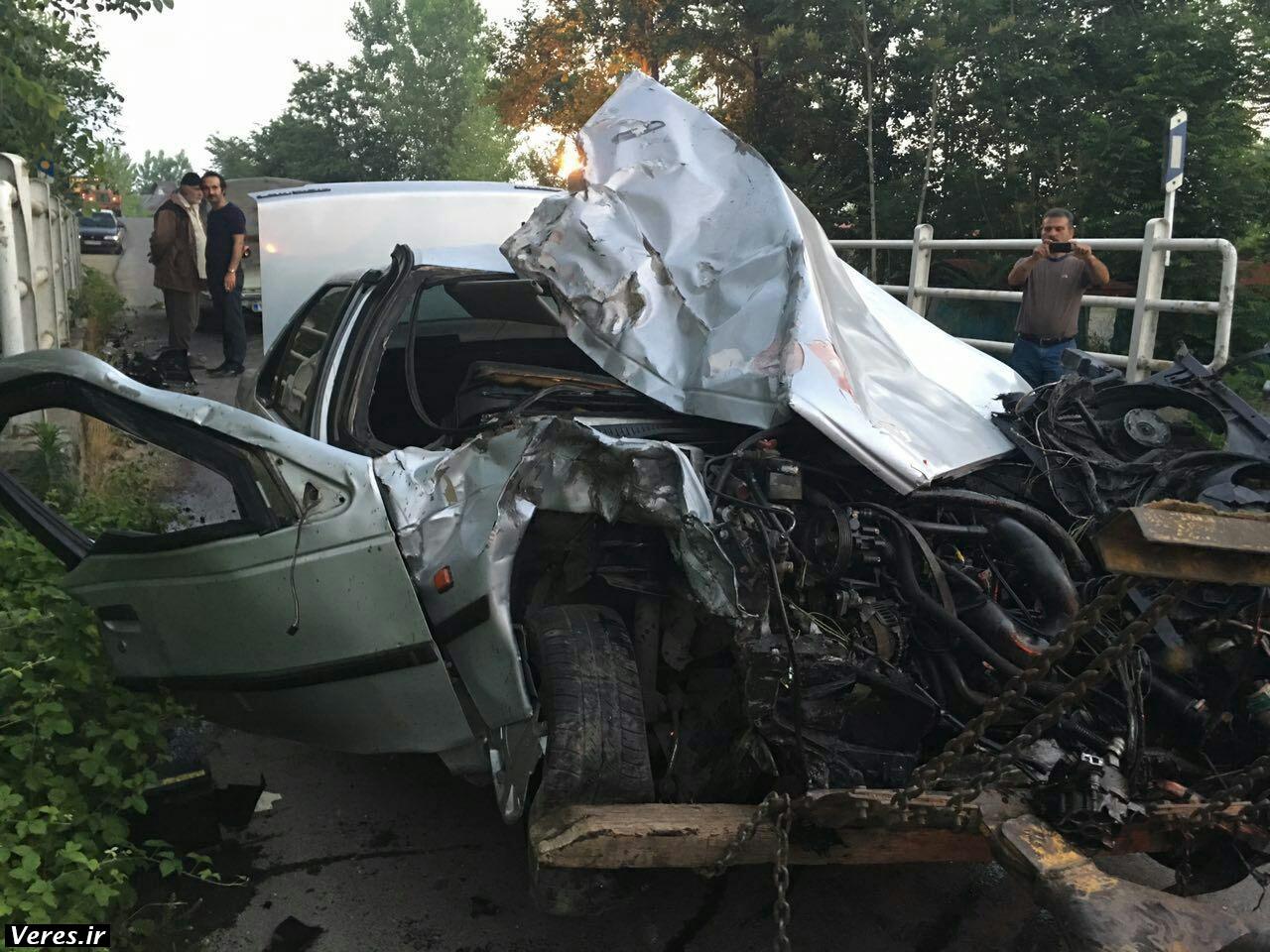 تصادف مرگبار در شفت / کودک ۶ ساله پدر و مادرش را از دست داد