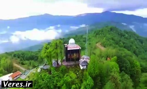 فیلم/پرواز بر فراز امامزاده اسحاق شهرستان شفت