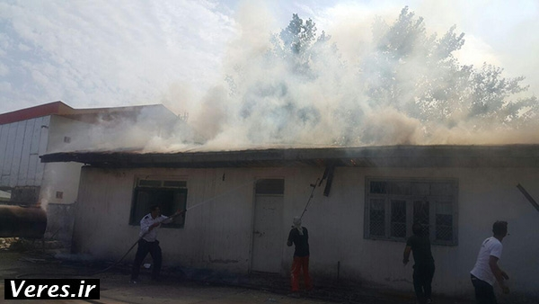 آتش سوزی یک مدرسه در جیرده شهرستان شفت