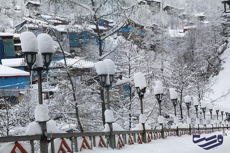 امامزاده ابراهیم شفت در امتداد برف