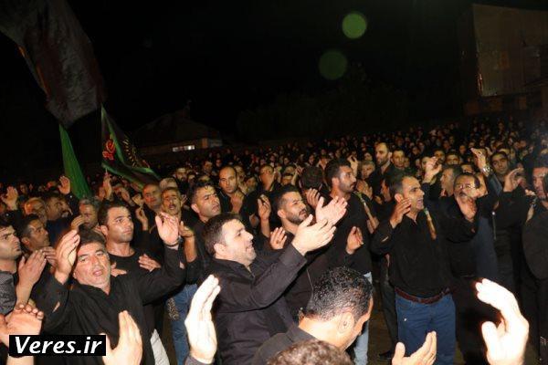 سوگواری شب شام غریبان در روستای شالمای شفت