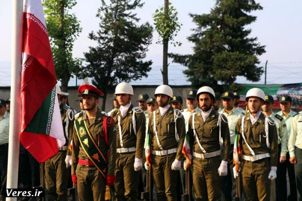 صبحگاه مشترک نیروهای نظامی و انتظامی در شفت برگزار شد