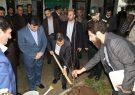کاشت نهال میوه توسط وزیر دادگستری در شفت