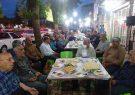ضیافت افطاری بازاریان در خیابان ۱۷ شهریور شفت