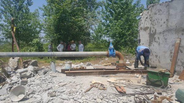 بهره برداری از چاه عمیق آب روستای کوزه گران شفت