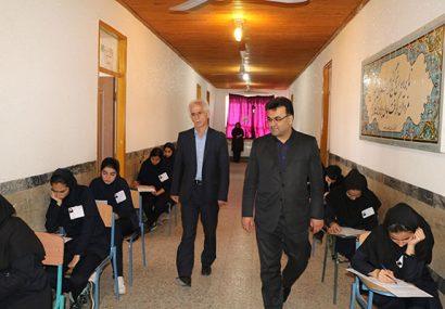 بازدید فرماندار شهرستان شفت از حوزه های امتحانی مدارس