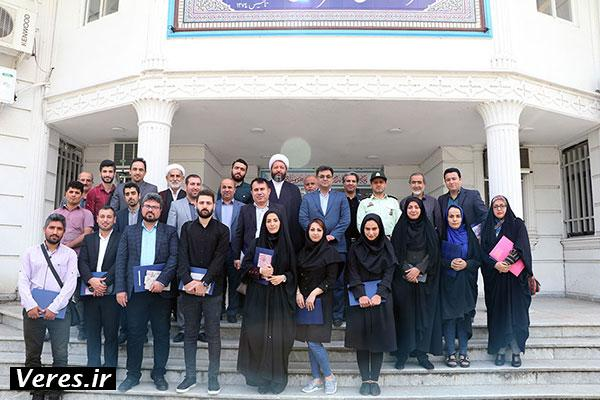 آیین تجلیل از خبرنگاران در فرمانداری شهرستان شفت